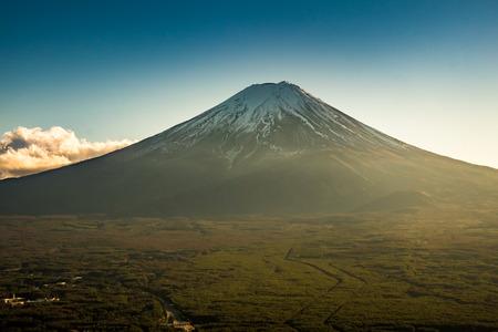 ropeway: Mt.Fuji from Kachi Kachi Ropeway Stock Photo