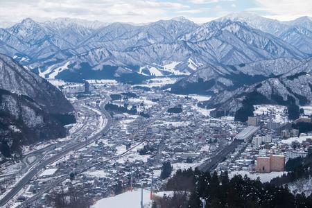View from Gala Yuzawa Ski Resort  - Japan 免版税图像