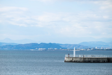 Lighthouse at Enoshima Island - Kamakura, Japan 写真素材