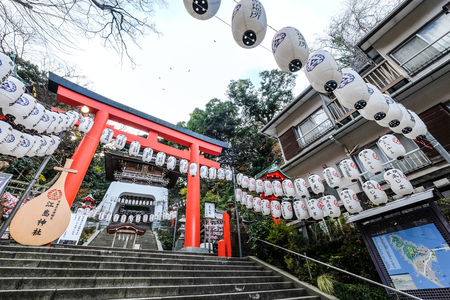 Enoshima Shrine in Enoshima Island - Kamakura, Japan
