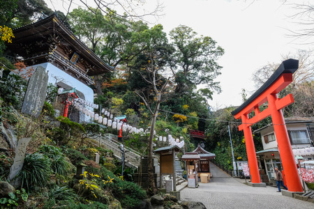 hachimangu: Enoshima Shrine in Enoshima Island - Kamakura, Japan