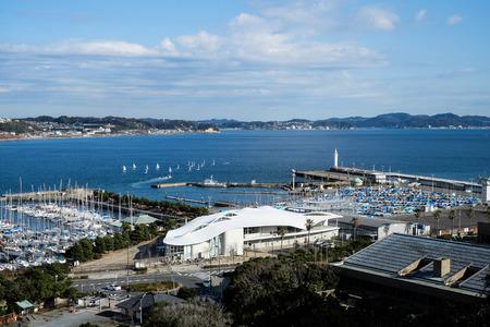 enoshima: The yacht harbor at Enoshima Island - Kamakura, Japan
