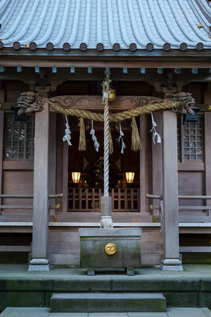 Shrine in Enoshima  Island - Kamakura, Japan Stock Photo