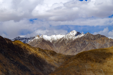 Landscape around Leh district in Ladakh, India
