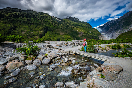 Track at Franz Josef Glacier, Located in Westland Tai Poutini National Park on the West Coast of New Zealand Stock Photo