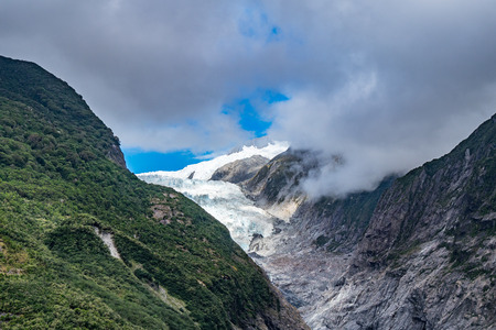 Franz Josef Glacier, Located in Westland Tai Poutini National Park on the West Coast of New Zealand Stock Photo