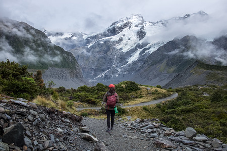 Hooker Valley Track, One of the most popular walks in AorakiMt Cook National Park, New Zealand