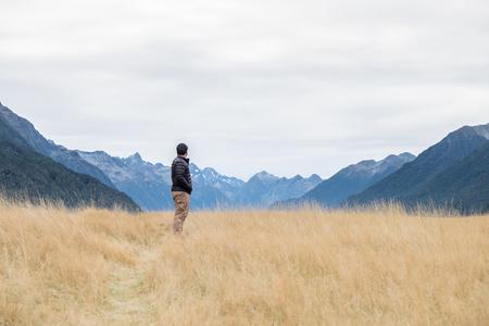 Landscape along Milford Sound highway, Fiordland National Park, New Zealand