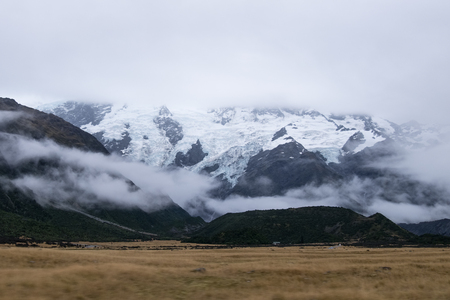 Landscape around Mt.Cook/Aoraki national park, New Zealand Stock Photo - 90034766