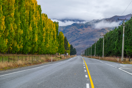 State Highway 6, South island of New Zealand Stock Photo