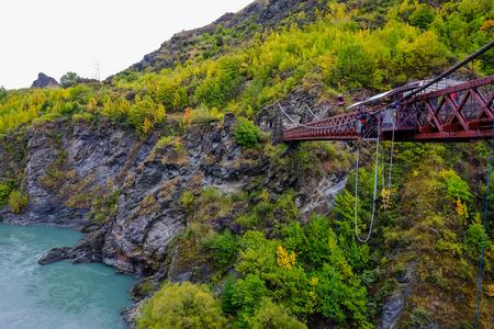 Kawarau Gorge Suspension Bridge, New Zealand
