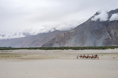 Landscape around Nubra Valley in Ladakh, India