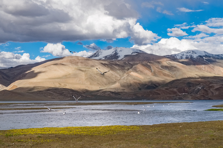 Landscape around Tso Moriri Lake in Ladakh, India
