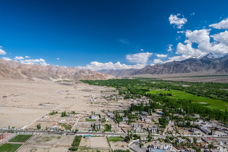 Landscape around  Leh district, Ladakh, in the north Indian state of Jammu and Kashmir.