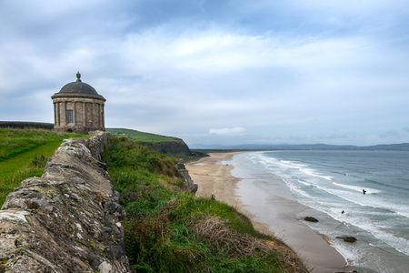 Mussenden Temple, located in the beautiful surroundings of Downhill Demesne near Castlerock in County Londonderry, Northern Ireland