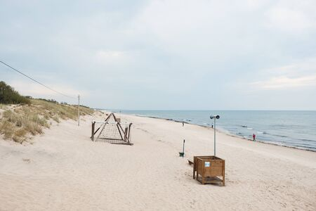 Landscape of Smiltyne Beach, Located on Curonian Spit in Klaipeda, Lithuania