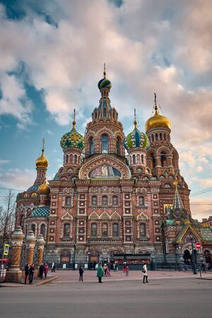SAINT PETERSBURG, Russia - April 14, 2015: The Landscape of Church of the Savior on Spilled Blood in The City of Saint Petersburg, Russia Reklamní fotografie