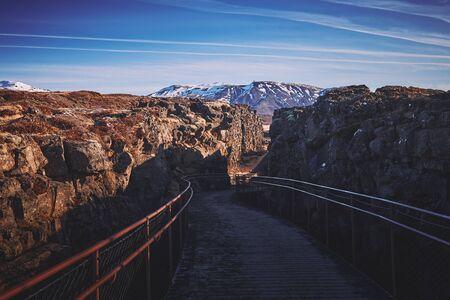 The landscape around Thingvellir national park, located on the northeast of Reykjavík city, Iceland