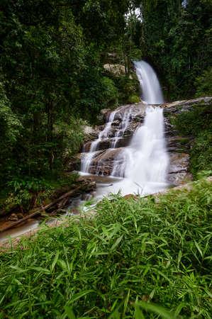 Huai Sai Luang Waterfall, A waterfall in Doi Inthanon National Park, Chiangmai province, Thailand