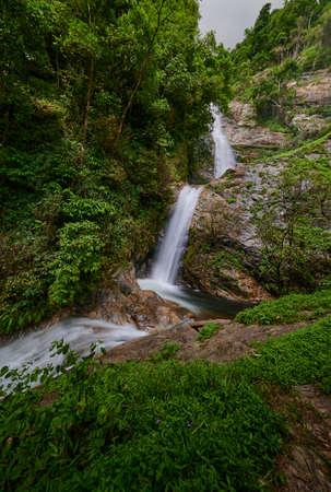 Mae Pan Waterfall, A waterfall in Doi Inthanon National Park, Chiangmai province, Thailand