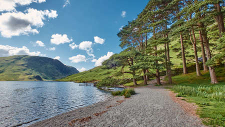 The Landscape of Buttermere Lake in Lake District National Park, Cumbia, United Kingdom