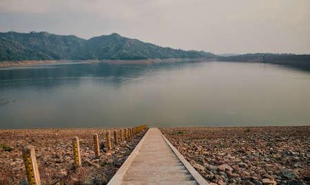 The landscape inside Khun Dan Prakan Chon Dam, Nakorn Nayok province, Thailand