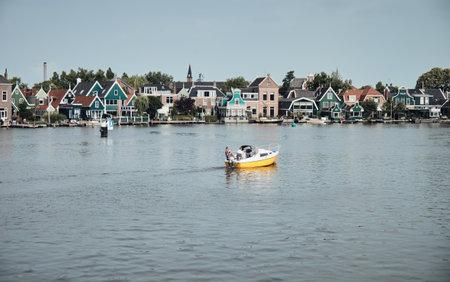 The landscape of Zaanse Schans village, Netherlands