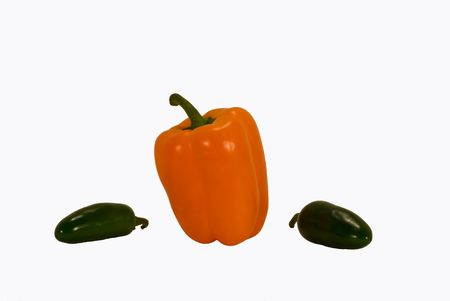 bell pepper with jalapeno peppers