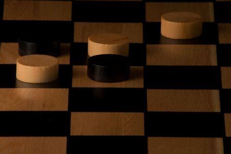 gioco dama Archivio Fotografico - 4702765