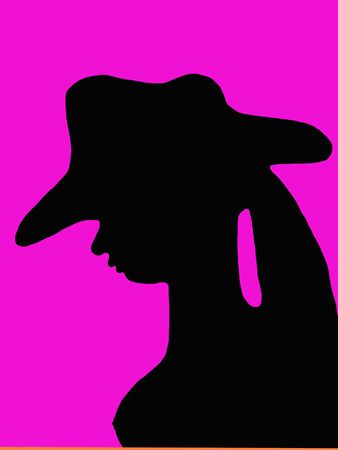 silhouette of woman Imagens