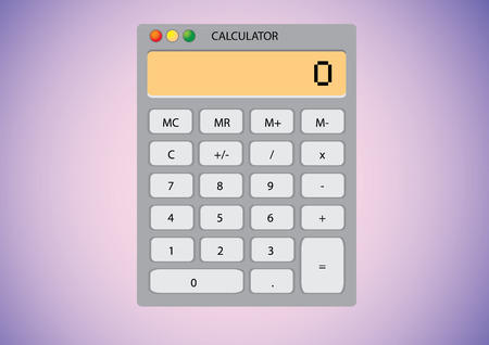 desktop wallpaper: Calculadora de software en el papel tapiz del escritorio - ilustraci�n  Vectores