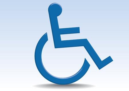 wheel chair: sybbol for invalid - illustration