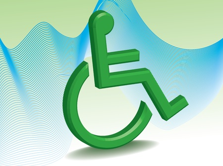 handicapped: Abstract invalid symbol - illustration