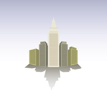 city art scheme in perspective - illustration Stock Vector - 11495750
