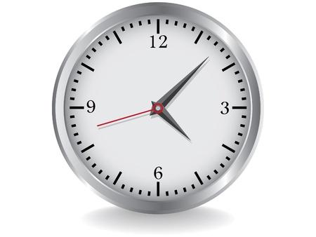 clock hands: metal clocks - realistic illustration Illustration