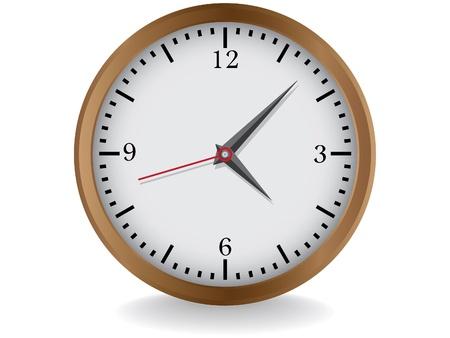 wall clock: wooden clocks realistic illustration