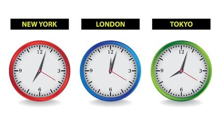clock hands: clocks - realistic illustration Illustration