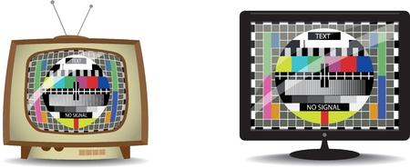 tv screen: color test in tv Illustration