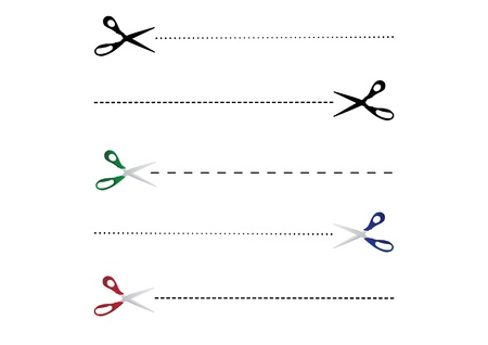 five open scissors color vector illustration Stock Vector - 11495834