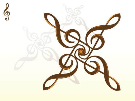 g clef: g key abstract - illustration