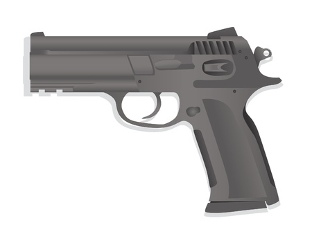 isolated gun detailed realistic illustration