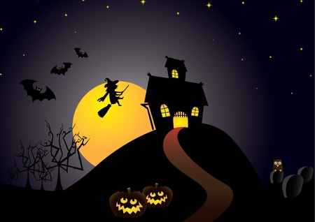 Helloween classic background -  illustration Vector