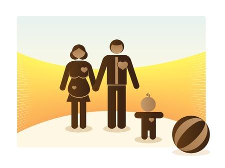 basic family outdoor - illustration Vector