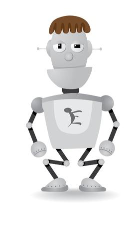 cartoon robot illustration Vector