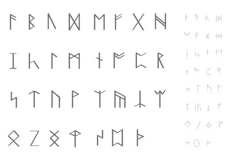 occultism: set of runes Illustration