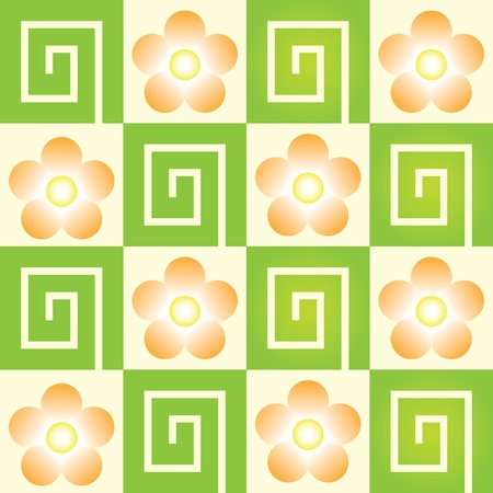 floral seamles ornament geometric - illustration Vector