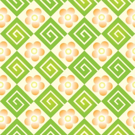floral seamles ornament geometric - illustration Vector