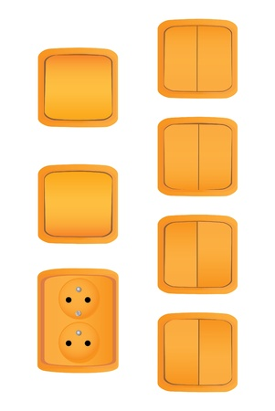 push room: french type socket and switches - illustration
