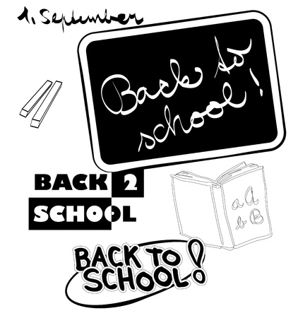 wor: back to school themes illustration