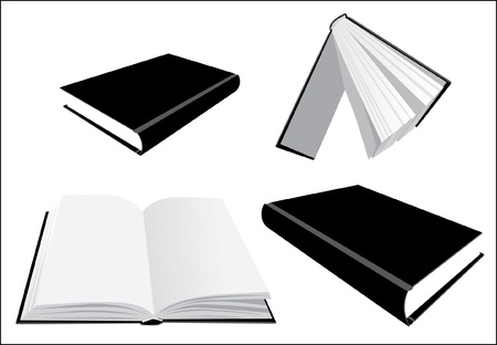 Books from several perspective - illustration